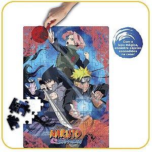 Puzzle Play 100 peças Naruto Shippuden com Lente Mágica Elka