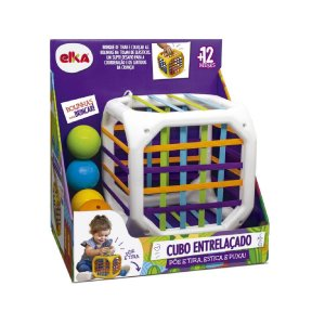 Jogo Infantil Cubo Entrelaçado - Brinquedo Educativo Elka