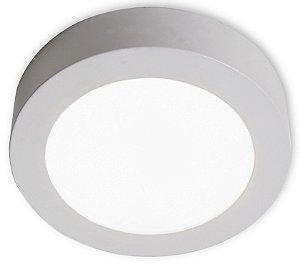 Luminária Plafon de Sobrepor Led Redonda 18W Luz Branco Quente 3000k
