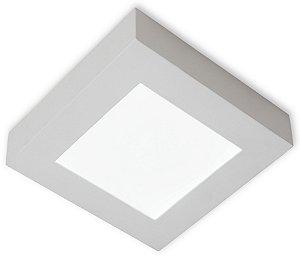 Plafon de Sobrepor Led Quadrada 12W Branco Frio 6500k