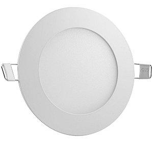 Luminária de Embutir Led Slim Redonda 24W Luz Branco Frio 6500k