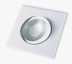 Spot Led Embutir 10w Quadrado Luz Branco Neutro 4000k