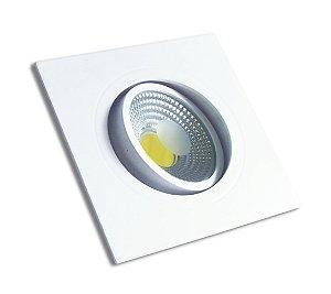 Spot Led Embutir 5w Quadrado Luz Branco Quente 3000k