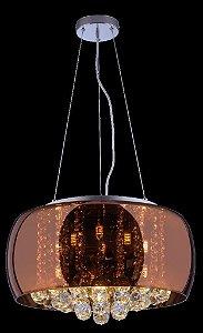 Lustre De Cristal Para Sala, Quarto 40cm Attractive Cobre
