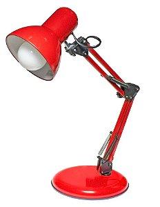 Luminária de Mesa Empire Vermelho 60cm Articulável