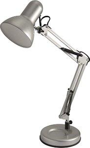 Luminária De Mesa Empire Prata 60cm Articulável