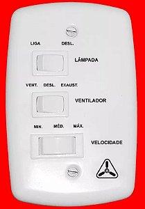 Ventilador de Teto Ventidelta Tornado Led 4 Pás 110V Branco
