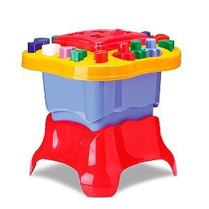 Mesinha de Atividades com Blocos Brinquedo Educativo
