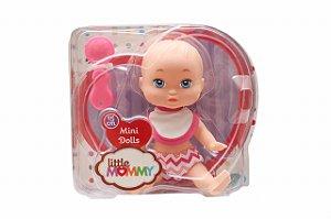 Boneca Mini Little Mommy Pupee Papinha 15cm com Acessórios