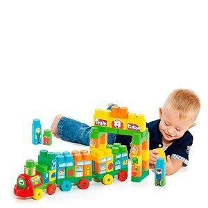Baby Land Trenzinho Didático 70 Peças com blocos Educativo