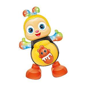 Abelha Dançante Brinquedo Musical Anda Mexe Luz e Som Bee