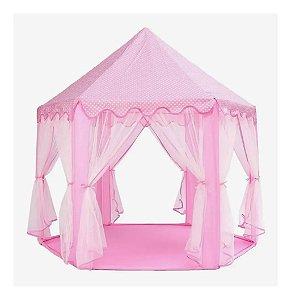 Barraca Infantil Tenda Cabana Castelo Princesas C/ Luzes Led