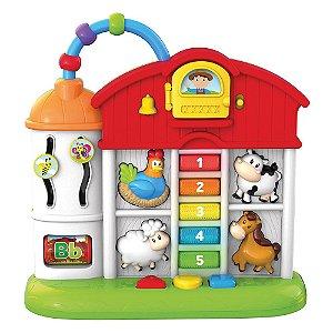 Casinha Divertida - Musical Brinquedo Educativo p/ Bebê