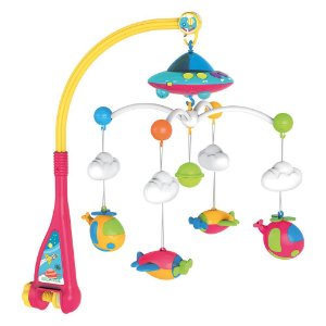 Móbile Berço Bebê Musical e Giratório Espaçonave Baby