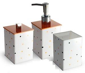 Kit para Lavabo em Acrílico Legítimo - Porta Escova Geo