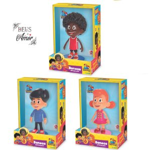 3 Palavrinhas - Kit 3 Bonecos Miguel, Sarah e Davi Originais