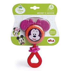 Chocalho Mordedor Minnie Disney Baby - Elka Atóxico +3m