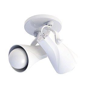 Spot De Sobrepor Octa Duplo Branco Direcionável E27