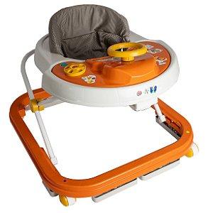 Andador Infantil Musical Laranja 6 a 12 meses - Antiqueda Inmetro