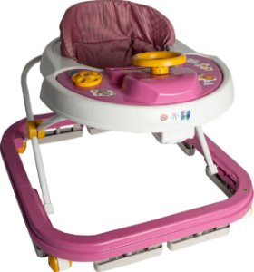 Andador Infantil Musical Rosa 6 a 12 meses - Antiqueda Inmetro