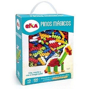 Pinos Mágicos Elka - Educativo Blocos de Montar 500 Pçs