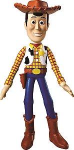 Boneco de Vinil Macio Toy Story Woody 17cm Líder