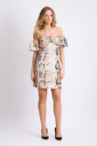Vestido Animal Print - Cobra