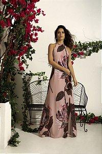 Vestido Longo Evasê Floral
