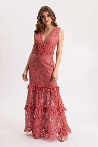 Vestido longo Vintage