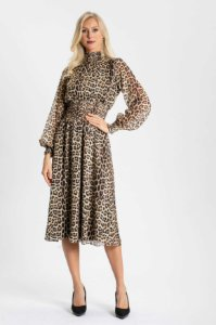 VESTIDO MIDI JAGUAR-animal print