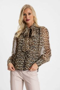 Camisa Laço Jaguar-Animal Print