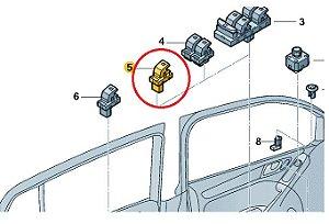 Interruptor Acionamento dos Vidros Passageiros - Novo Polo Virtus e T-Cross