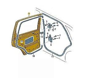 Porta Traseira Direita Polo Sedan