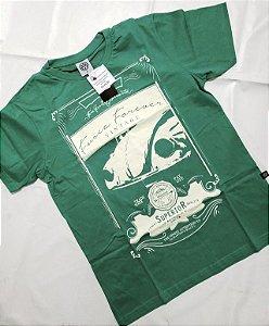 Camiseta Fusca Vintage Verde Claro