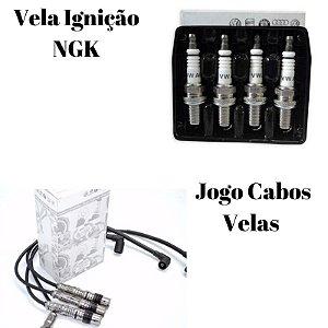 Kit de velas de ignição NGK + Cabo de velas
