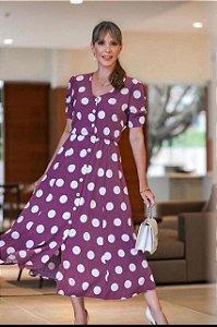 Vestido De Poa Elizabeth Lima