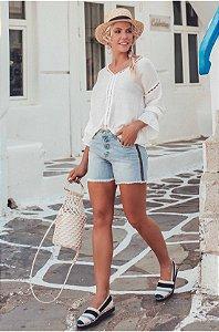 Short Jeans Faixa Lateral
