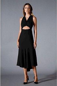 Vestido Midi Recorte Preto Iorane