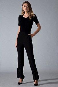 Calça Semi Pantalona Com Amarração Iorane