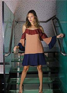 Vestido Tricolor Fluidez Isa Paes