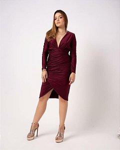 Vestido Drape Rosy Isa Paes