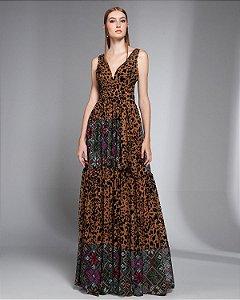 Vestido Longo Estampado Skazi