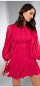Vestido Curto  Pink  Sclub