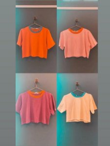 Blusa Cropped Bicolor Bardoh