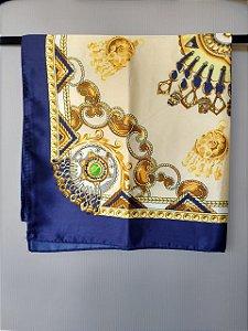 Lenço Toque de Seda 60x60 cm Adornos