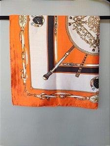 Lenço Toque de Seda 60x60 cm Correntes