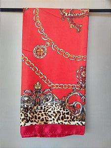 Lenço Toque de Seda 90x90 cm Correntes