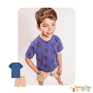 Conjunto de camiseta e bermuda em sarja Luc.boo - v