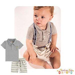 Conjunto de camisa polo e bermuda Luc.boo Baby - v