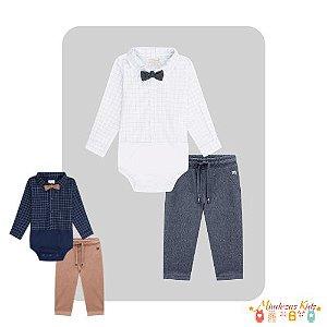 Conjunto de body camisa e calça e gravata Luc.boo